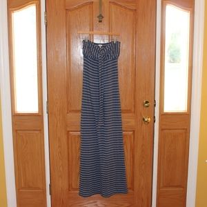 Splendid 2 way  maxi dress blue and light blue